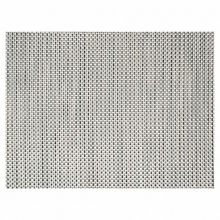 "FOH® XPM041SIV83 Silver 16"" x 12"" Basketweave Placemat"