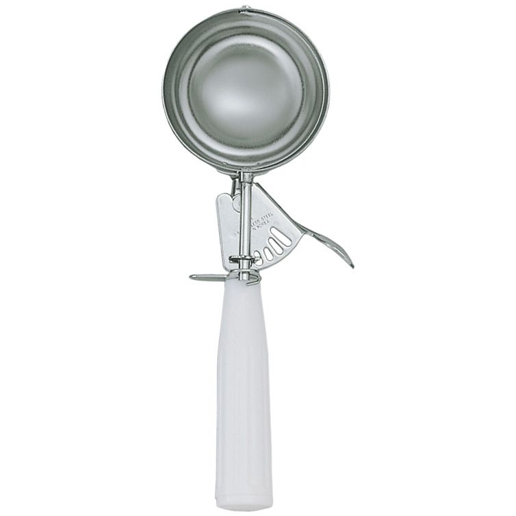 Update International DP-6 S/S  4-2/3 Oz. / #6 Disher with White Handle