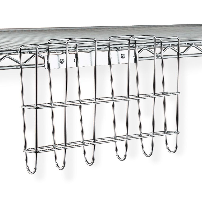 Metro PH1239C Chrome Plated File Basket for Super Erecta Shelving