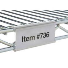 "Focus Foodservice FSHELF3CL 3"" Clear Snap-On Shelf Label - 1 / PK"