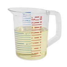Rubbermaid® FG321600CLR Bouncer® Plastic 1 Quart Measuring Cup