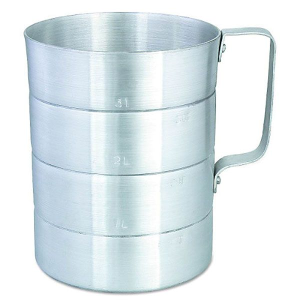 Browne Foodservice 575610 Aluminum 1 Qt. Dry Measuring Cup