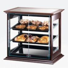 Cal-Mil 284-S-52 Dark Wooden Frame 3-Tray Self-Serve Display Case