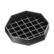"Cal-Mil 308-4-13 Black 4"" x 4"" Octagonal Spigot Drip Tray"