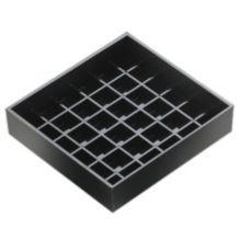 "Cal-Mil 681-4-13 Black 4"" x 4"" Spigot Drip Tray"