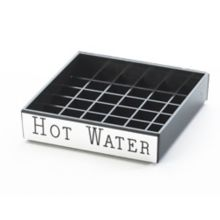 "Cal-Mil 632-3 Square 4"" ""Hot Water"" Spigot Drip Tray"