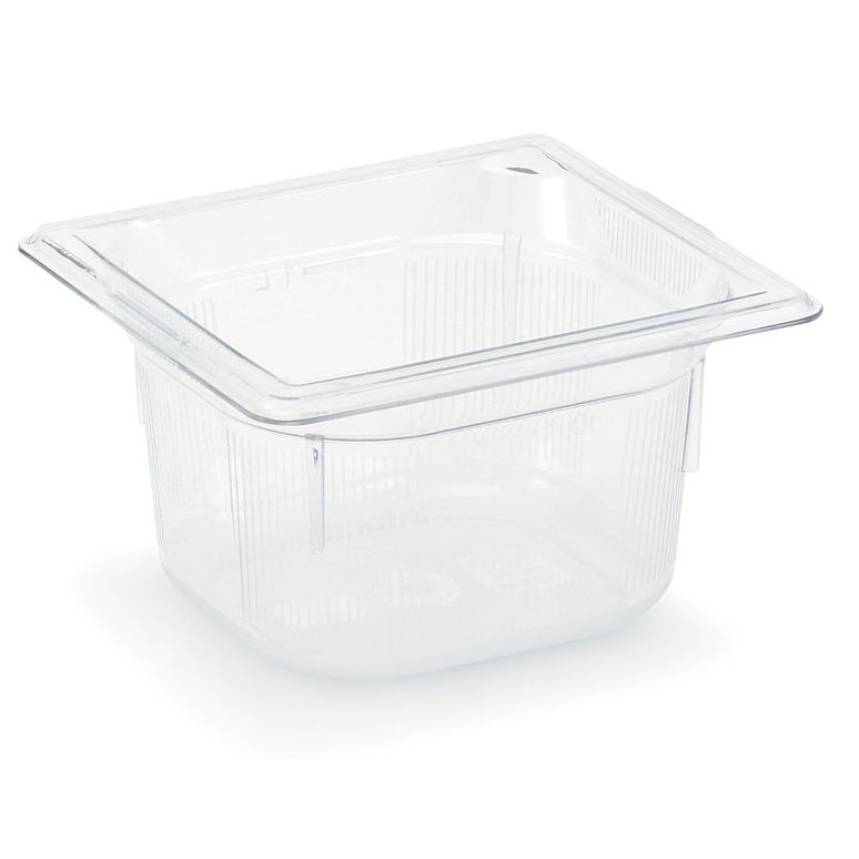 "Vollrath 8062410 Clear 1/6 Size x 2.5"" D Low Temp Food Pan"