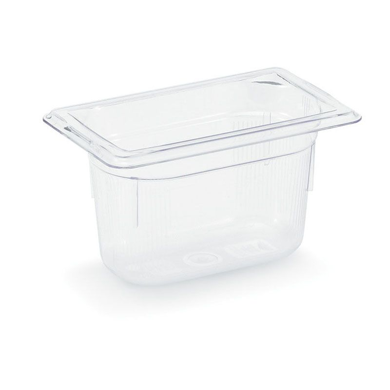 "Vollrath 8094410 Clear 1/9 Size x 4"" D Low Temp Food Pan"