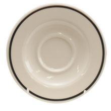 Homer Laughlin 02861191 Platinum Line 5.63 In A.D. Saucer - 36 / CS