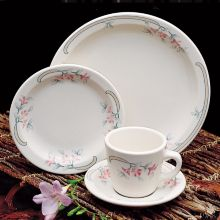 "Homer Laughlin 2831347 Pink Sage 5.5"" Texas Saucer - 36 / CS"
