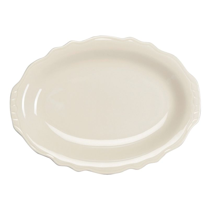 "Homer Laughlin 52700 Carolyn Undecorated 12.58"" Platter - Dozen"