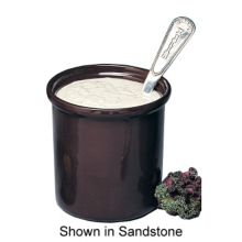 Bon Chef 9202 IVORY Sandstone 40 Oz Dressing Container / Condiment Pot
