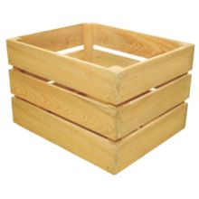 Crate Farm OC-1512-NA Half Bushel Natural Cypress Orchard Crate