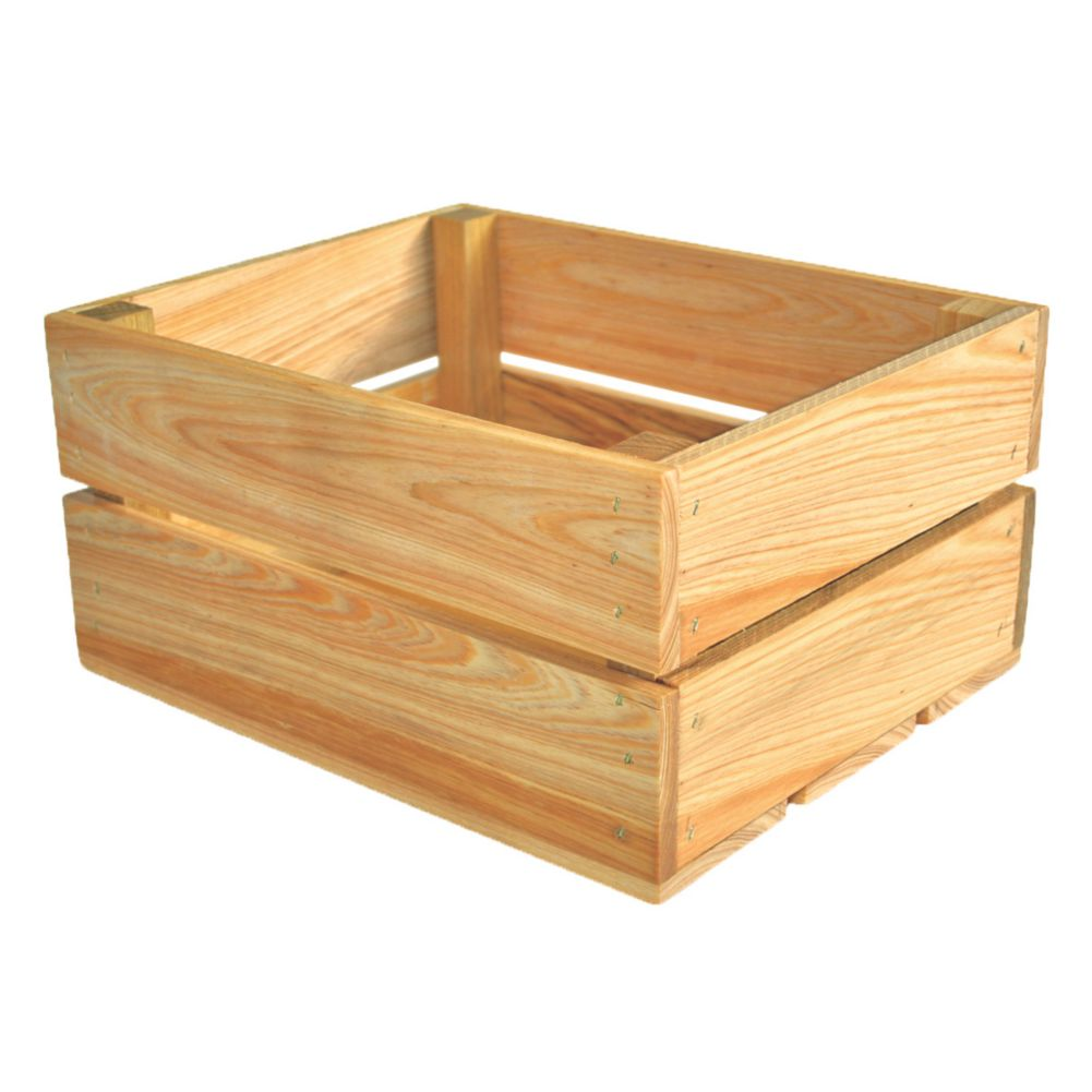 Crate Farm OC-1209-NA Peck Natural Cypress Orchard Crate