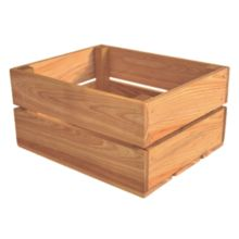 Crate Farm OC-1209-OK Peck Oak Stain Wood Orchard Crate