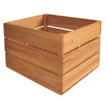Crate Farm OC-1814-OK Bushel Oak Stain Wood Orchard Crate