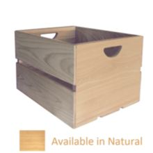 "Crate Farm AC-NA Natural Cypress 18 x 14 x 11.5"" Apple Crate"