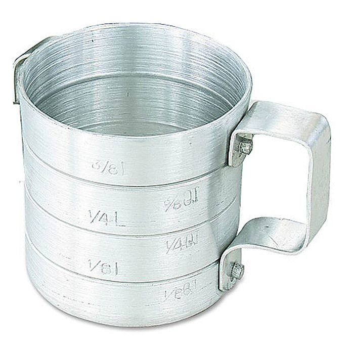 Browne Foodservice M05 Aluminum 0.5 Qt. Dry Measuring Cup