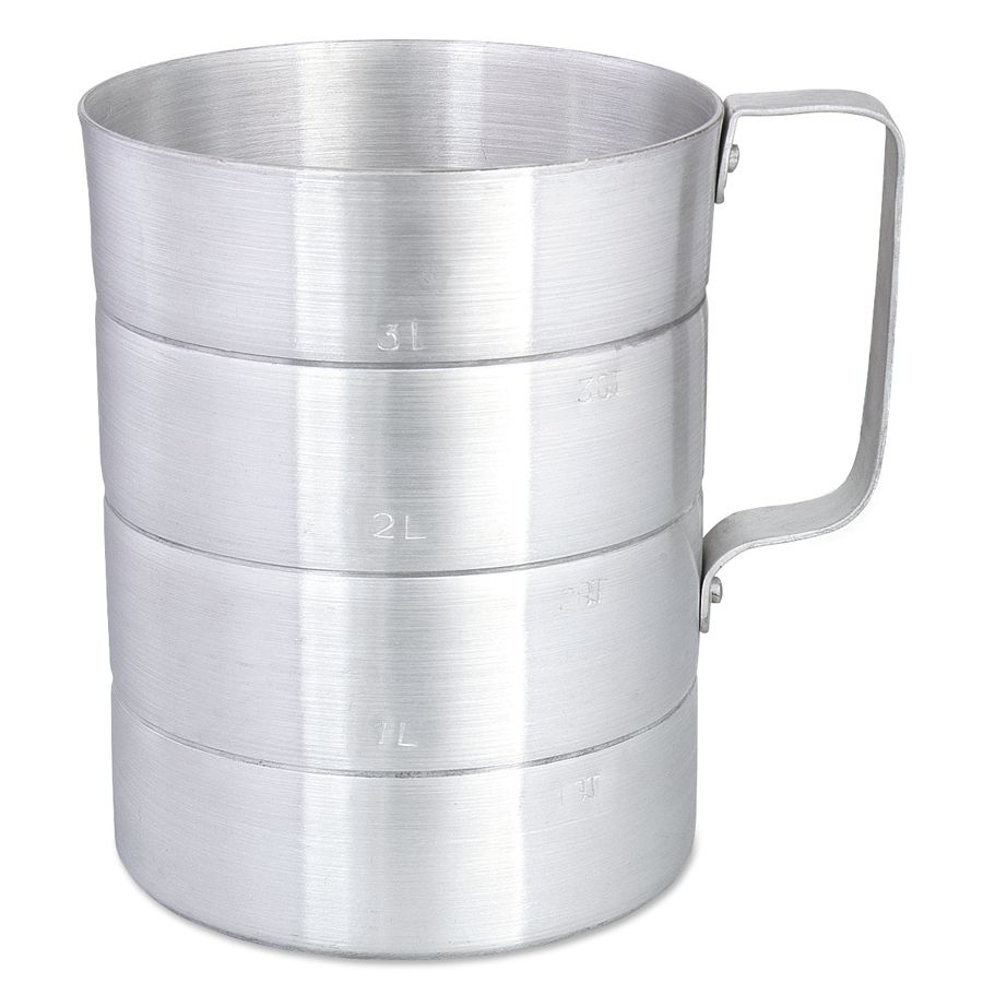Browne Foodservice 575640 Aluminum 4 Qt. Dry Measuring Cup