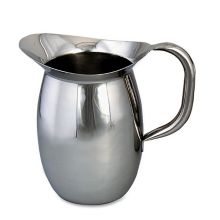 Browne Foodservice 8203 S/S 3.1 Qt. Bell Pitcher with Tubular Handle
