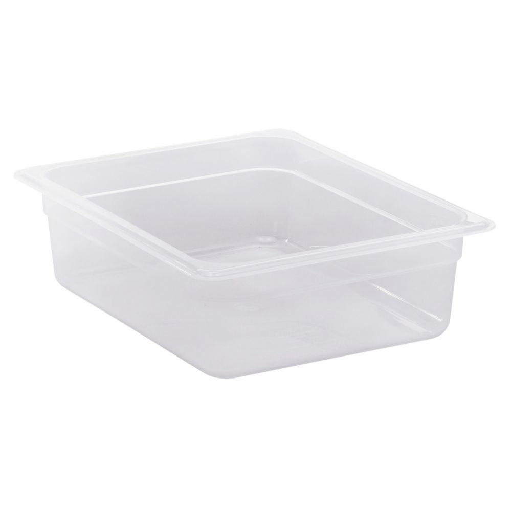 "Cambro® 24PP190 Translucent Half Size x 4"" Deep Food Pan"