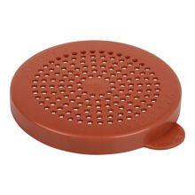 Cambro 96SKRLM408 Red Medium Grain Products Lid for Shakers
