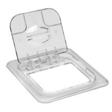 Cambro 60CWL135 Camwear Clear 1/6 Size Solid Food Pan FlipLid®