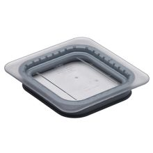 Cambro 60CWGL135 Camwear® Clear 1/6 Size Food Pan GripLid™