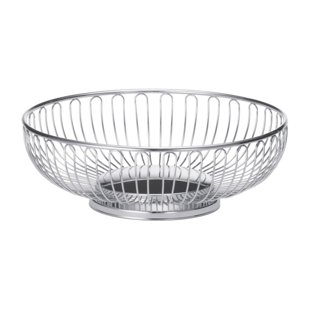 "TableCraft 4175 Chalet Chrome Plated 9-5/8"" x 3-1/4"" Basket"