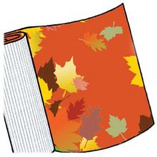 Simple Signman CDW-0804 Fall Leaves Corrugated Display Wrap - 4 / RL