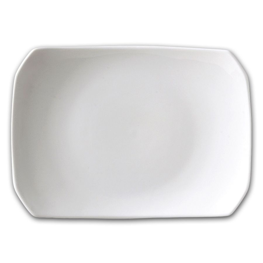 "Vertex RB-R8 Rubicon 9"" White Pan Asia Pedestal Plate - 24 / CS"