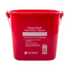 San Jamar® KP196KCRD Kleen-Pail® 6 Quart Red Sanitizer Pail