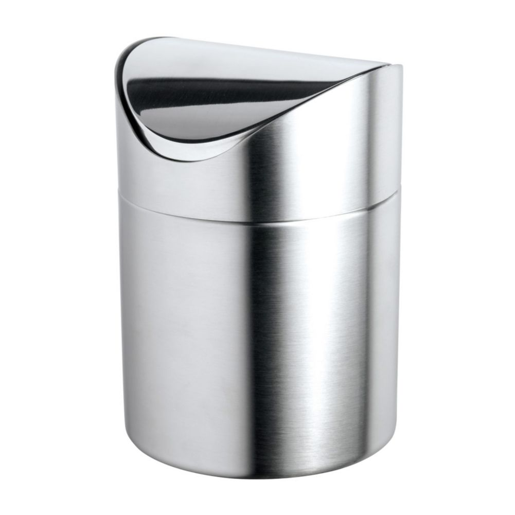 "Cilio 0112 Stainless Steel 6.63"" x 4.75"" Table Waste Bin"