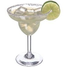 Carlisle 4362407 Liberty 9.5 Oz. Plastic Margarita Glass - 24 / CS