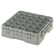 Cambro 25S418151 Camrack Soft Gray 25 Compartment Full Size Glass Rack