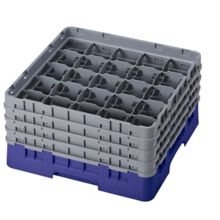 Cambro 25S800186 Camrack Navy Blue Glass Rack w/ 4 Extenders - 2 / CS