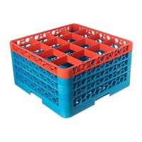 16 Compartment Glass Rack