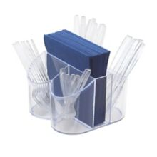 "Cal-Mil 910 8"" x 8"" x 5"" Napkin and Silverware Caddy"
