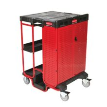 Rubbermaid® FG9T5800BLA Black Ladder Cart with Cabinet