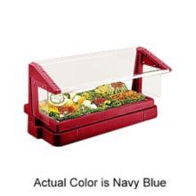 Cambro® BBR720186 Navy Blue 5-Pan Buffet Bar with Sneeze Guard