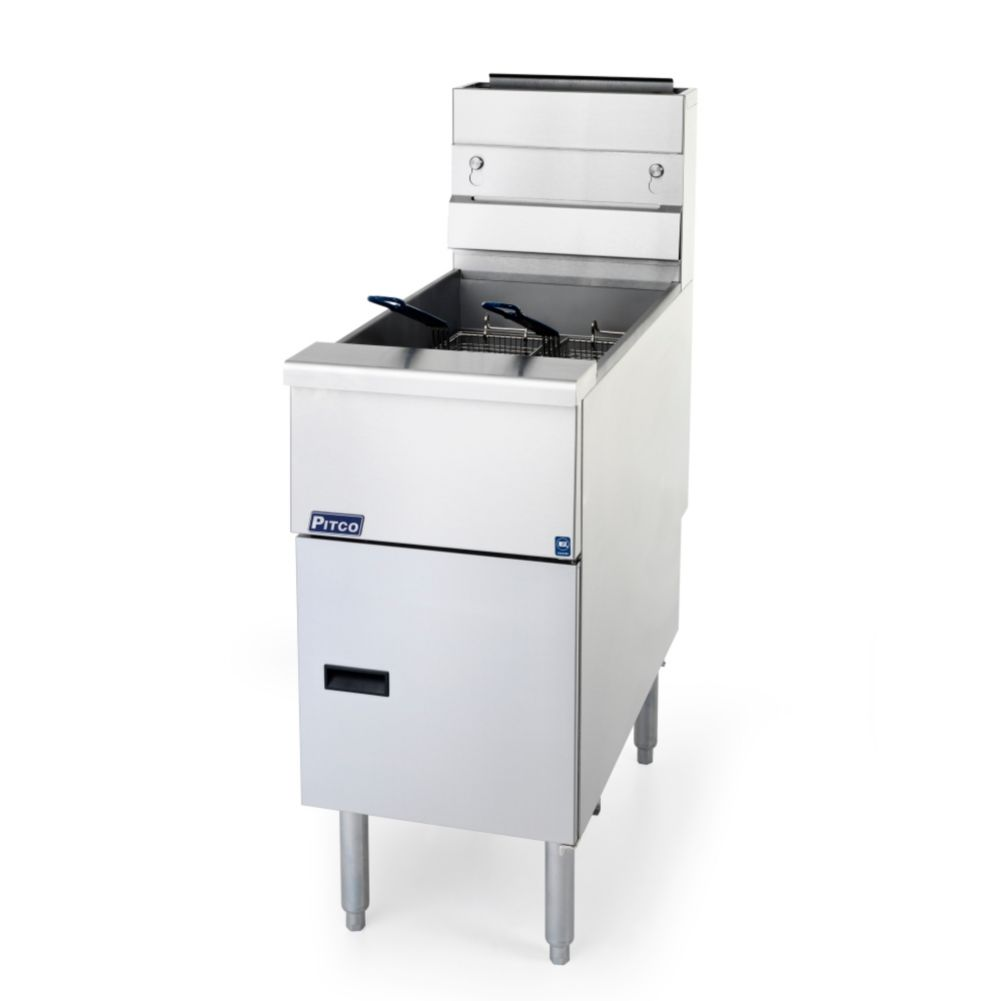 Pitco® SG14S Solstice 50 Lb. Tank 110,000 BTU Natural Gas Fryer