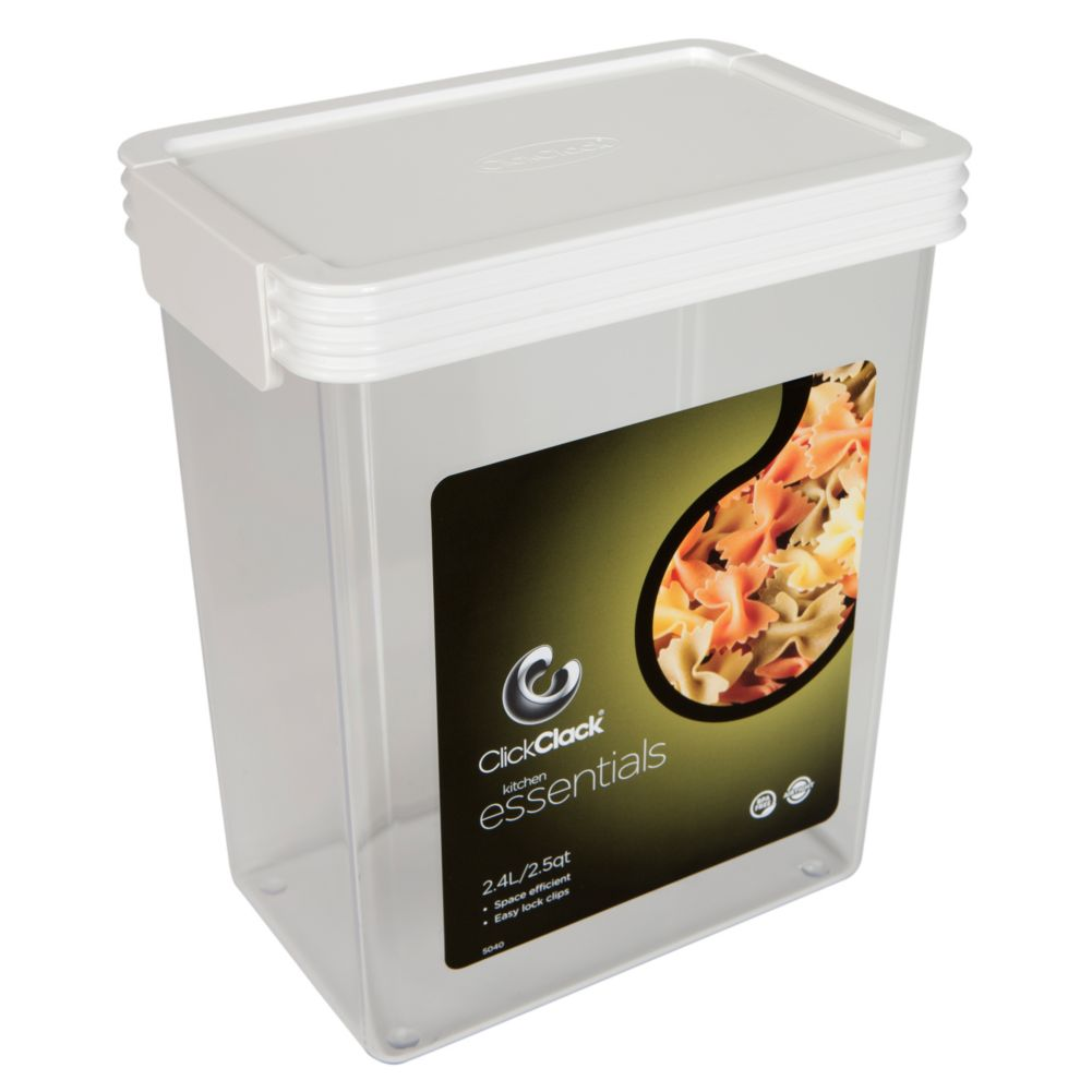 ClickClack® 504002 Storers 2.5 Qt Canister With White Lid - 4 / CS