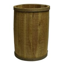 "Bradbury Barrel 1418B RUSTIC 14"" x 18"" Rustic Wooden Barrel"