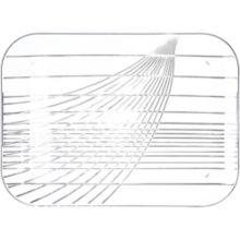 """Carlisle® 642607 Festival Trays 22"""" x 16"""" Clear Tray"""