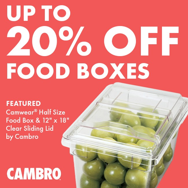 Save 20% On Food Boxes