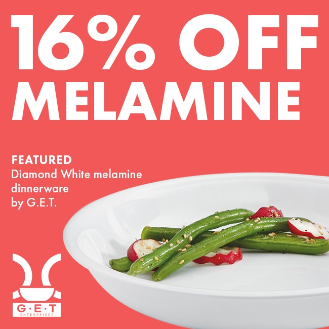 Save 16% On Melamine Dinnerware