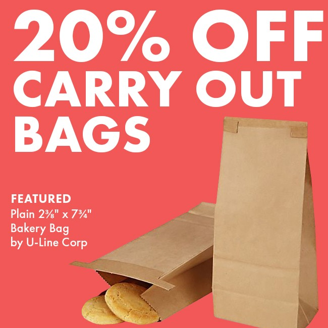 Save 20% On Carryout Bags