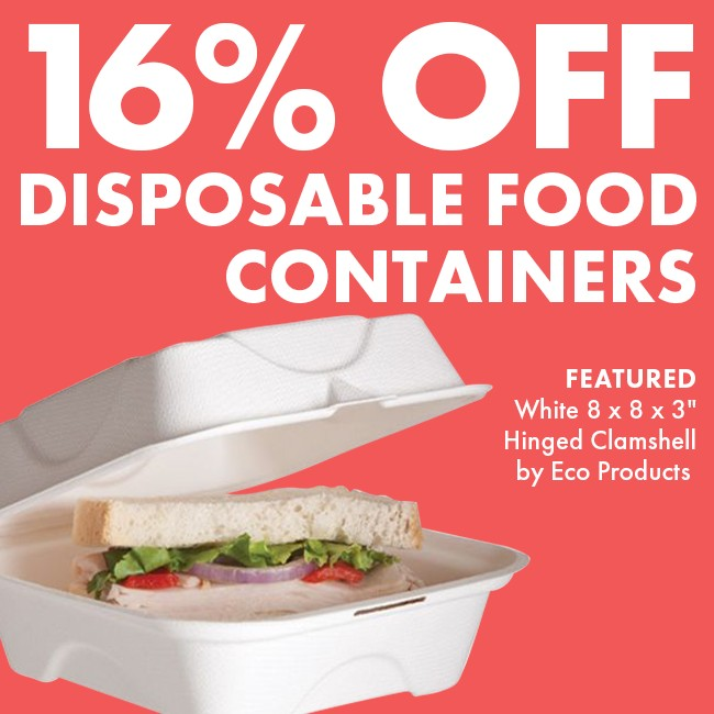 Save 16% On Disposable Food Containers