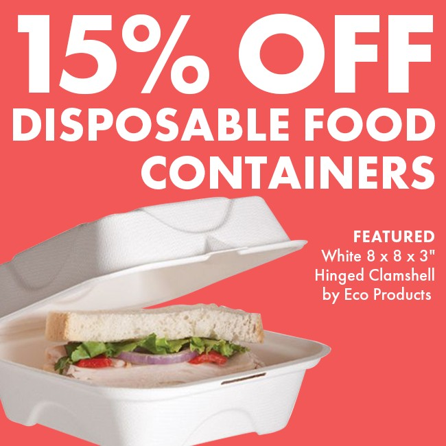 Save 15% On Disposable Food Containers