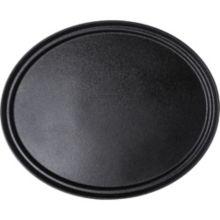 Carlisle® 2700GR004 Griptite™ 2 Black 27 x 22.5 Oval Tray